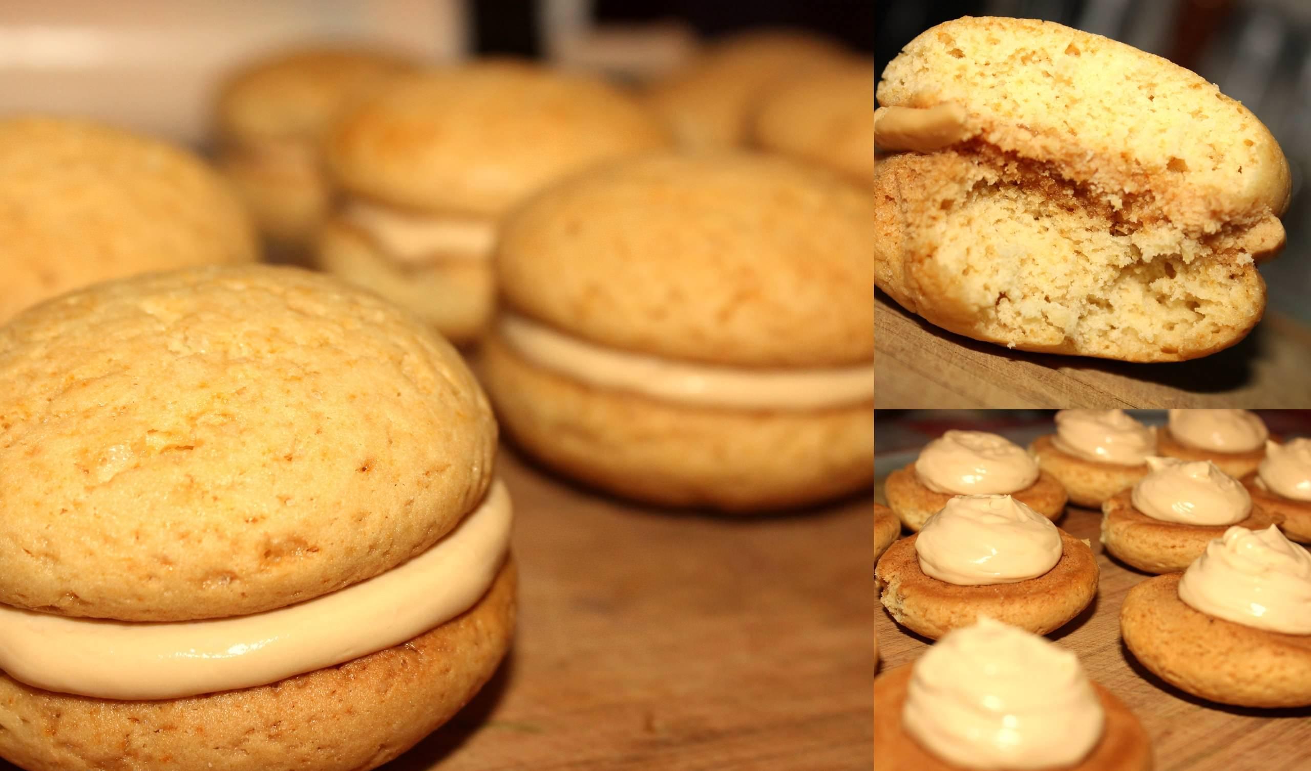 Двуслойное печенье очень аппетитно выглядит