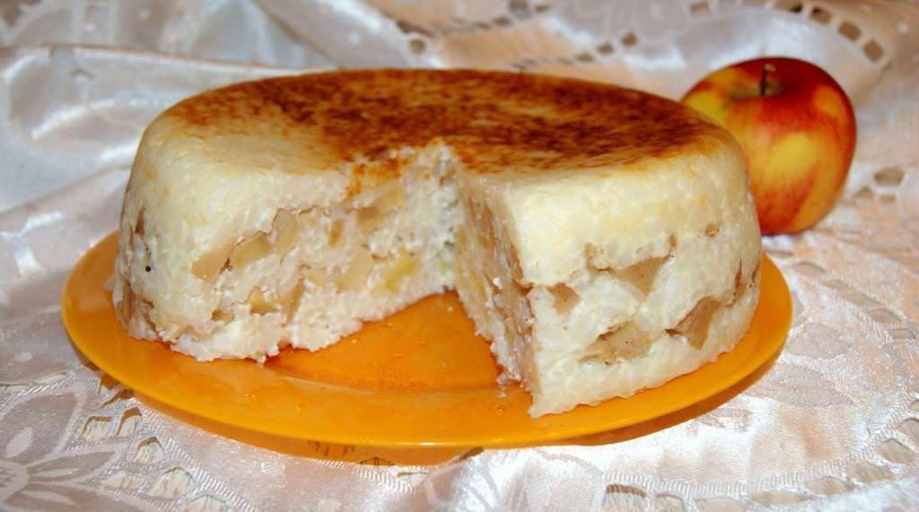 Рисовая запеканка с яблоками рецепт с фото