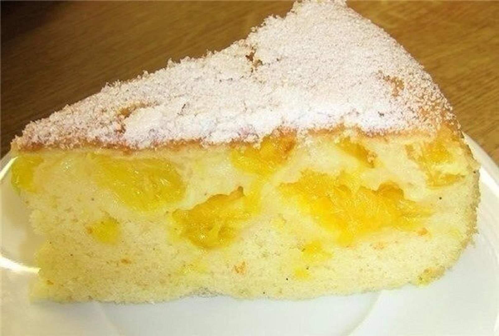 Пышная шарлотка с лимоном - рецепт пошаговый с фото