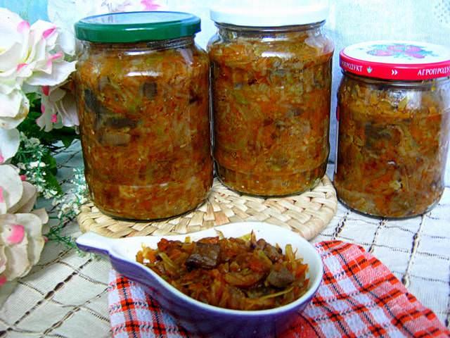 солянка на зиму с капустой и рисом