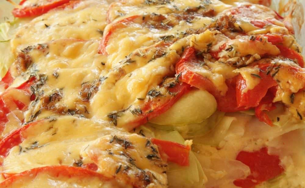 Рецепт запеканка помидоры фарш картофель