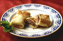 рецепт приготовления замороженных блинчиков с мясом