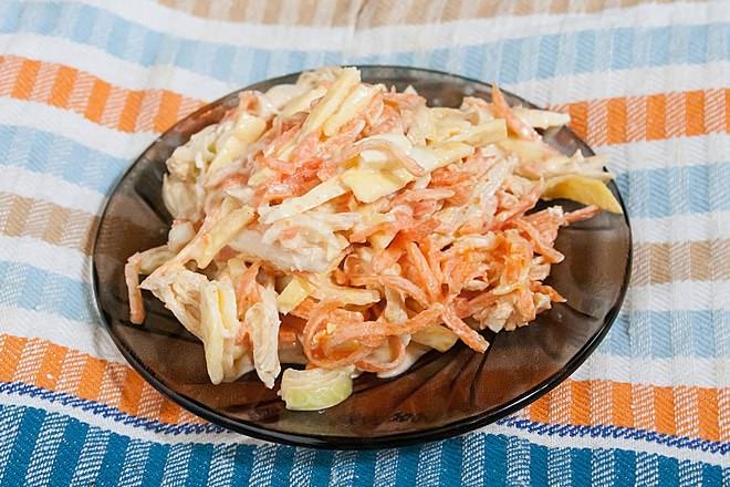 Вкусный салат омлетом рецепт с фото