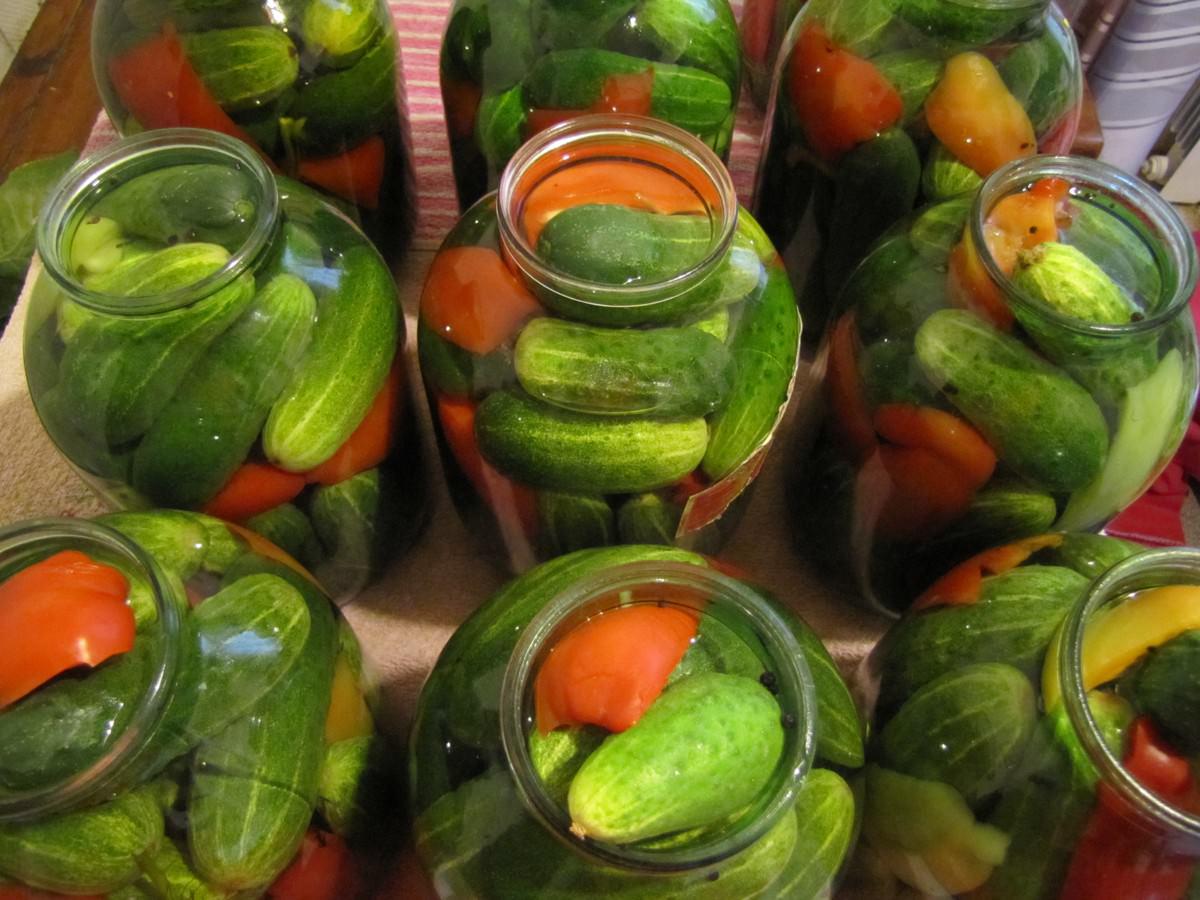рецепт огурцов без уксуса на зиму с фото