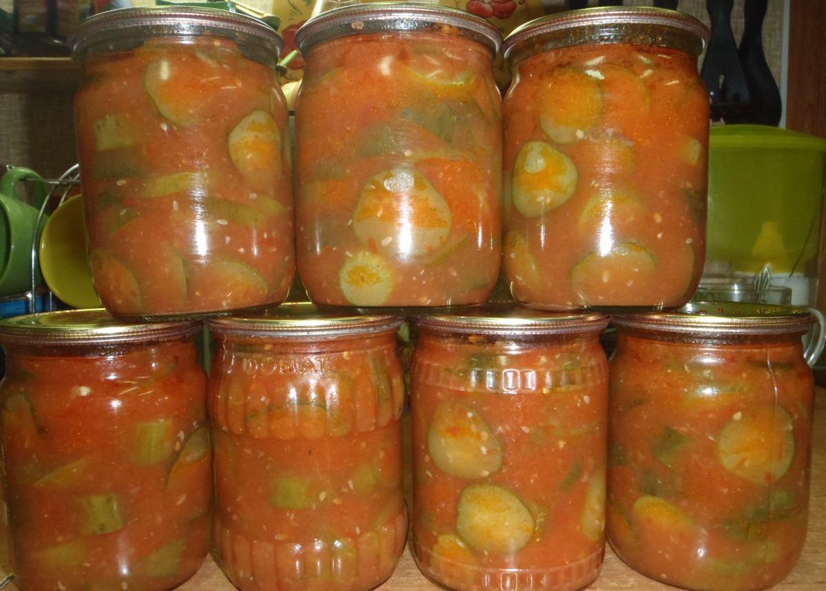 Салат на зиму перец в томатном соке