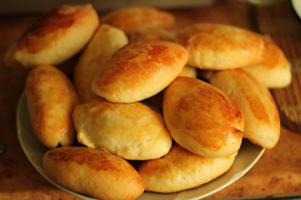 пресное тесто для пирожков с капустой в духовке пошаговый