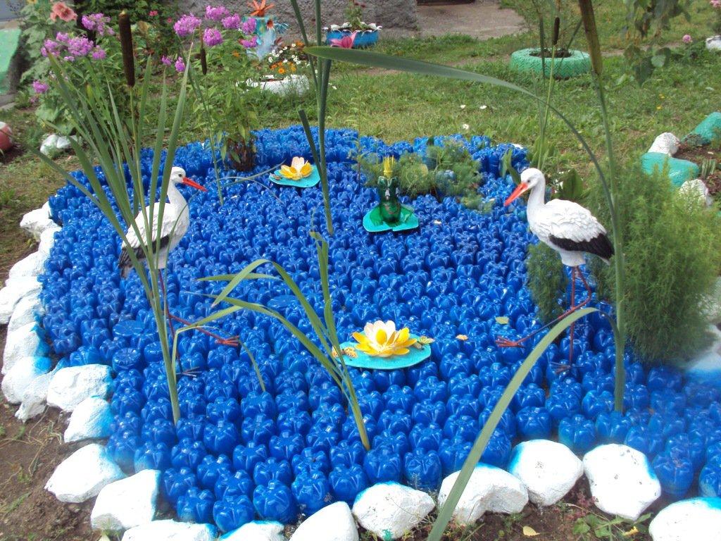 украшение сада и огорода своими руками фото окончанию
