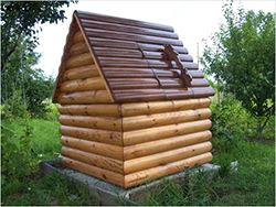 Чертеж домика для колодца с размерами