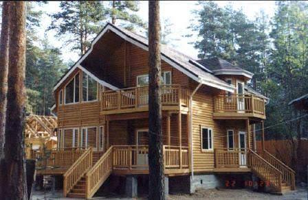 Блок хаус (имитация бревна) — идеальный вариант для загородной дачи