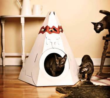 Как сделать домики для котов