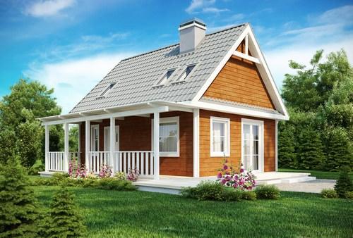 Воплощение проектов дачных домиков для 6 соток в жизнь