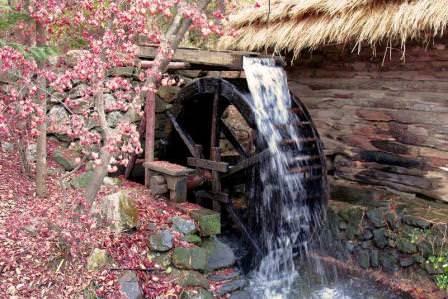 Водяная мельница своими руками