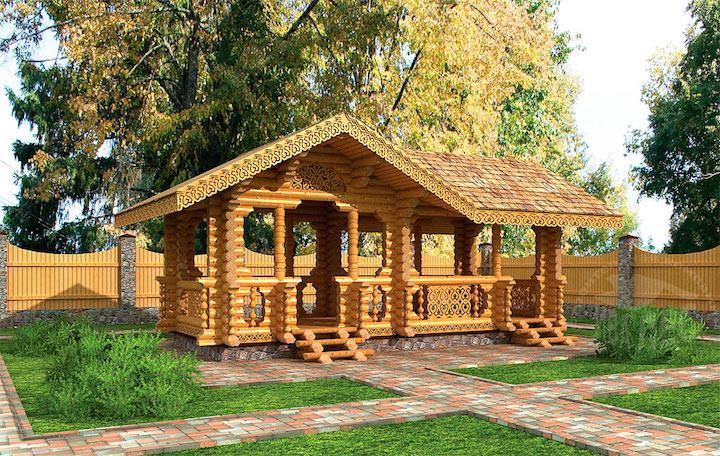 Любопытно, что порой жители нашей страны создают настолько красивые деревянные беседки, что даже жилые дома порой просто меркнут перед ними