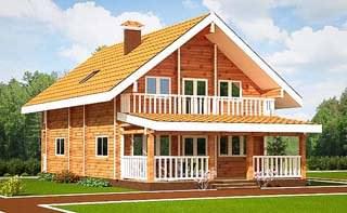 Загородные дома из профилированного бруса: недорого и эстетично