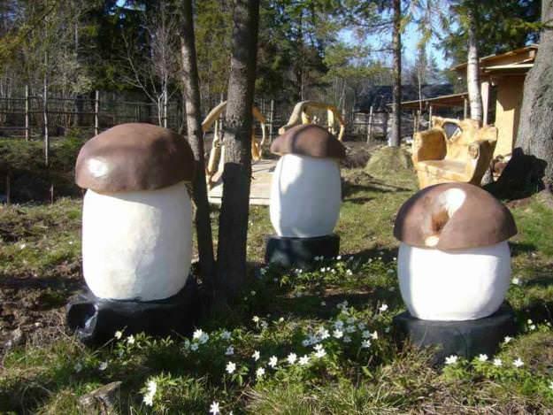 Грибы для сада своими руками фото