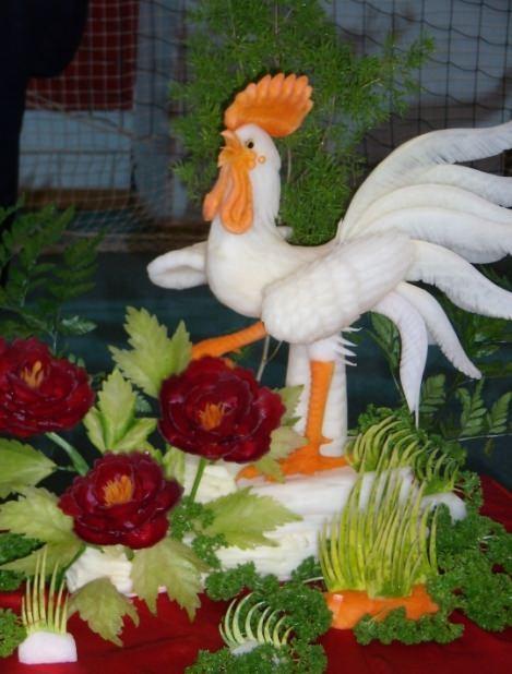 Карвинг из овощей и фруктов для начинающих: пошаговое фото