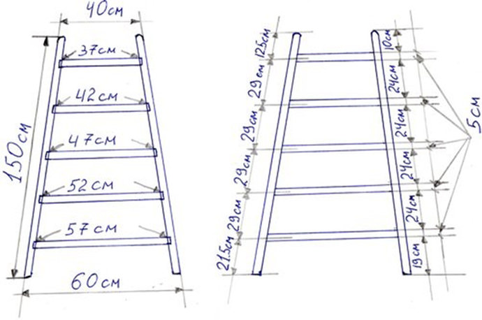 Деревянную лестницу стремянку своими руками
