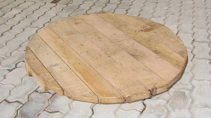 Деревянная крышка своими руками
