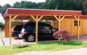 Навес для автомобиля на даче
