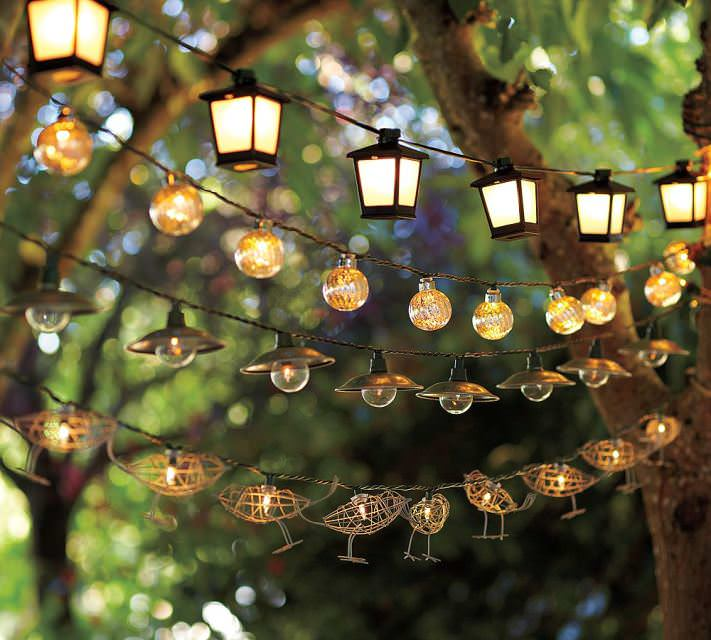 Недорогое декоративное освещение с использованием гирлянды и самодельных пластиковых плафонов