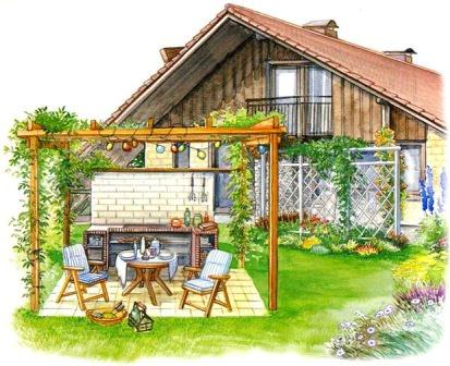 Дизайн зоны отдыха на дачном участке