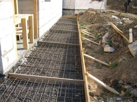 Один из основных этапов ремонта цоколя — ремонт или заливка качественной отмостки