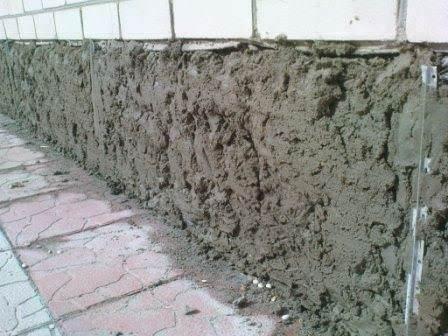 Сложным этапом ремонта цоколя дома считается само начало, далее же работа идет куда интереснее и быстрее
