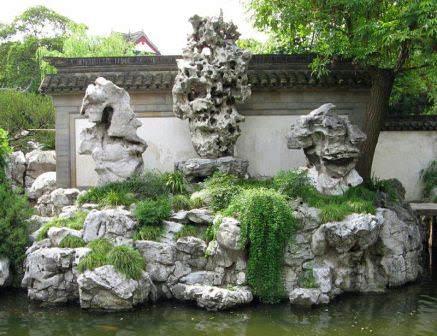 Каменная скульптура сада