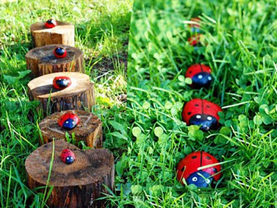 Декор сада своими руками из подручных материалов