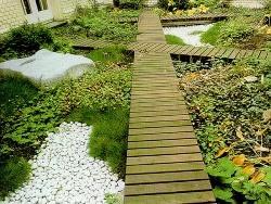Садовые дорожки из дерева