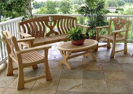 Красивая мебель для сада