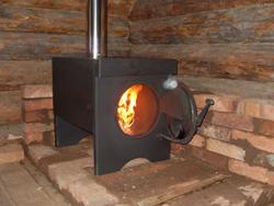 Отопление на даче на твердом топливе