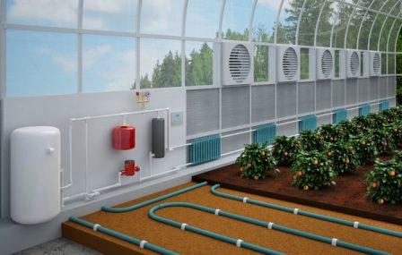 Отопление дает нам возможность выращивать растения и получать плоды в холодное время года