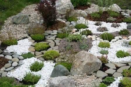 Рокарий (каменистая горка) - прием размещения камней и растений на искусственно террасированном рельефе.