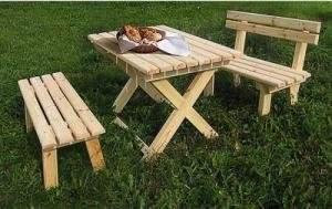 Как сделать садовый стол