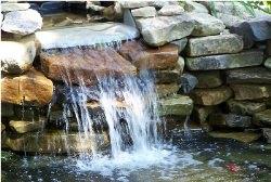 Садовый водопад своими руками фото