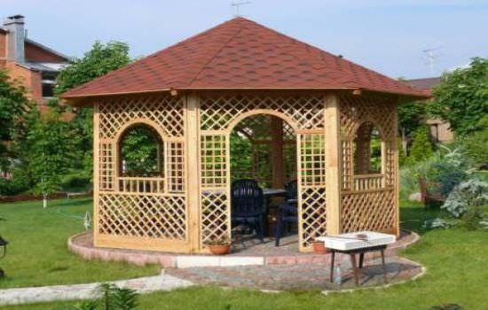 Малые архитектурные формы — беседки разнообразных проектов