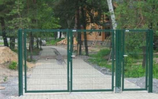 Возможна установка временных дачных ворот из сварной сетки