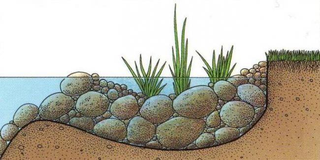 Применение разнообразных биологических объектов и элементов растительного происхождения по урезу воды является одним из наиболее хлопотливых и капризных способов берегоукрепления