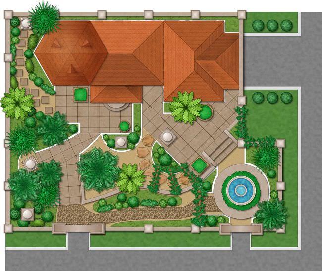 Можно также присмотреться к элементам, которые вы планируете для собственного сада – мебель, качели, бордюрные камни, фонари и декоративные ограждения