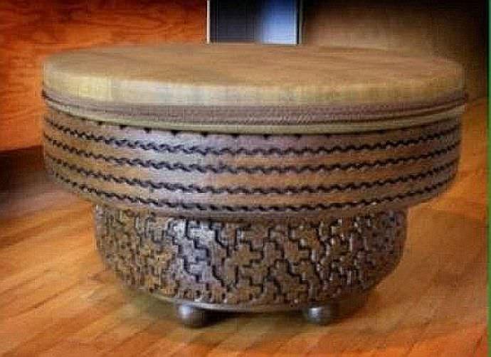 Комплект дачной мебели из старых покрышек — шедевр своими руками!