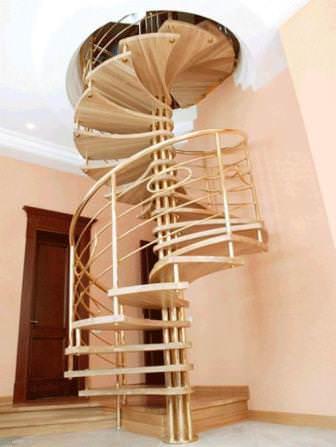 Основной показатель винтовой лестницы — угол закручивания