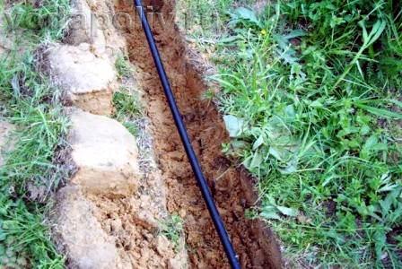 Установка водопровода на даче
