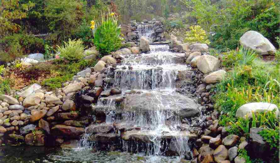 Сделать водопад своими руками