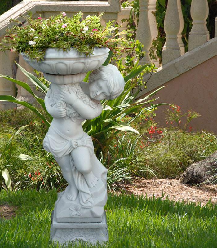 Садовые скульптура своими руками