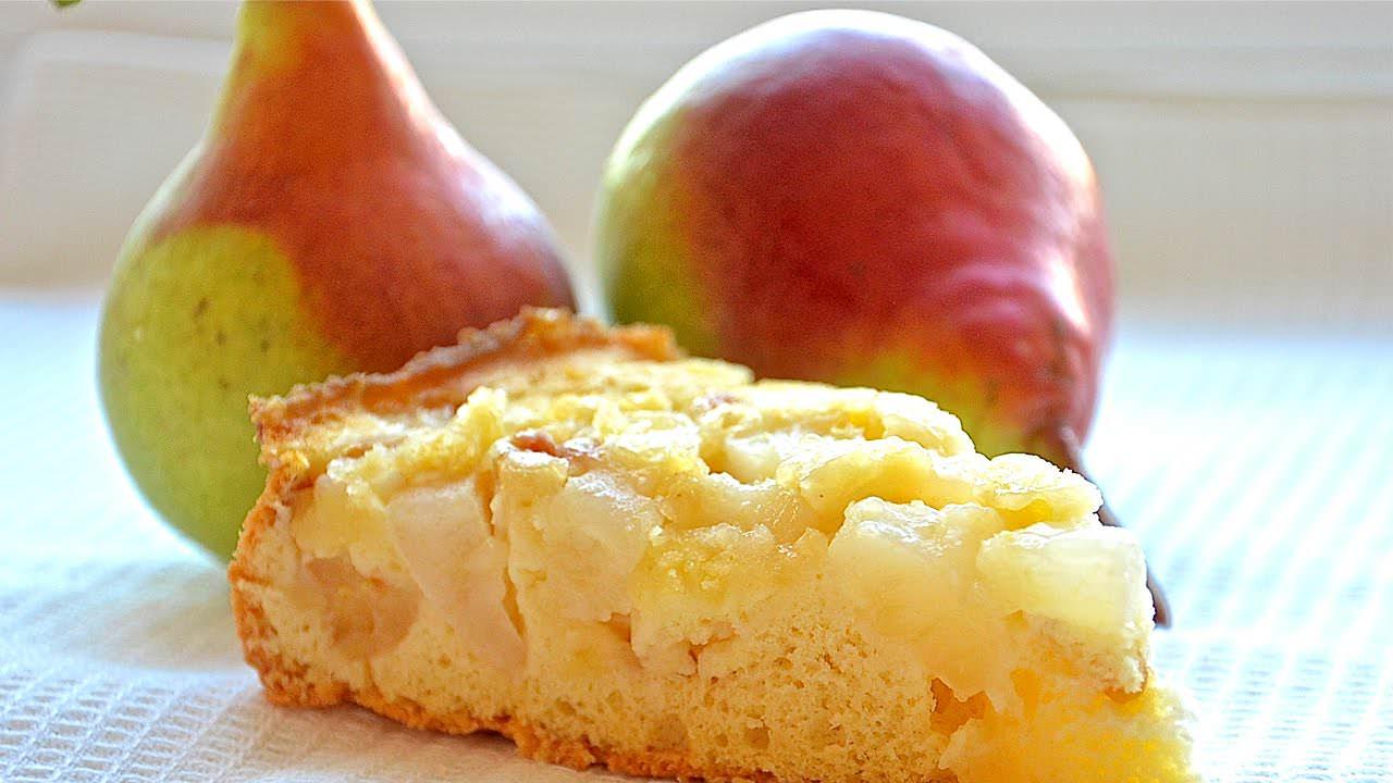 Рецепт шарлотки с грушами в духовке