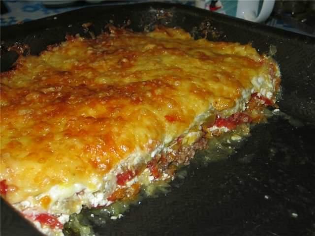 Рецепт с фаршем и кабачками