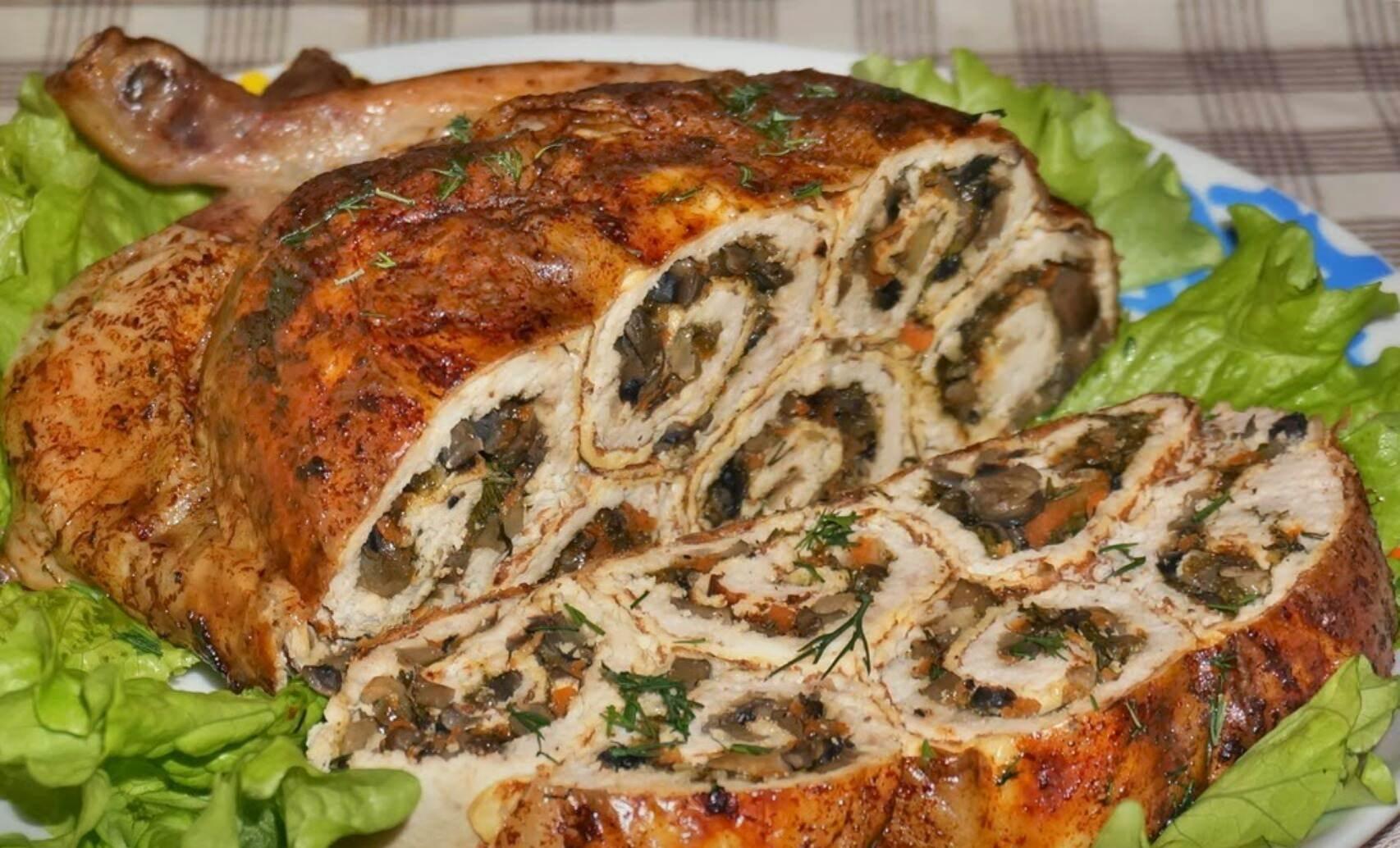 Рецепты фаршированной курицы в духовке пошагово
