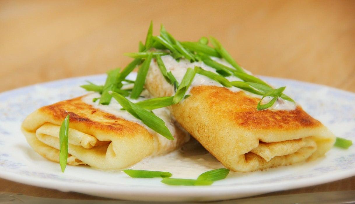 Картофельные блинчики с начинкой фото рецепт пошаговый