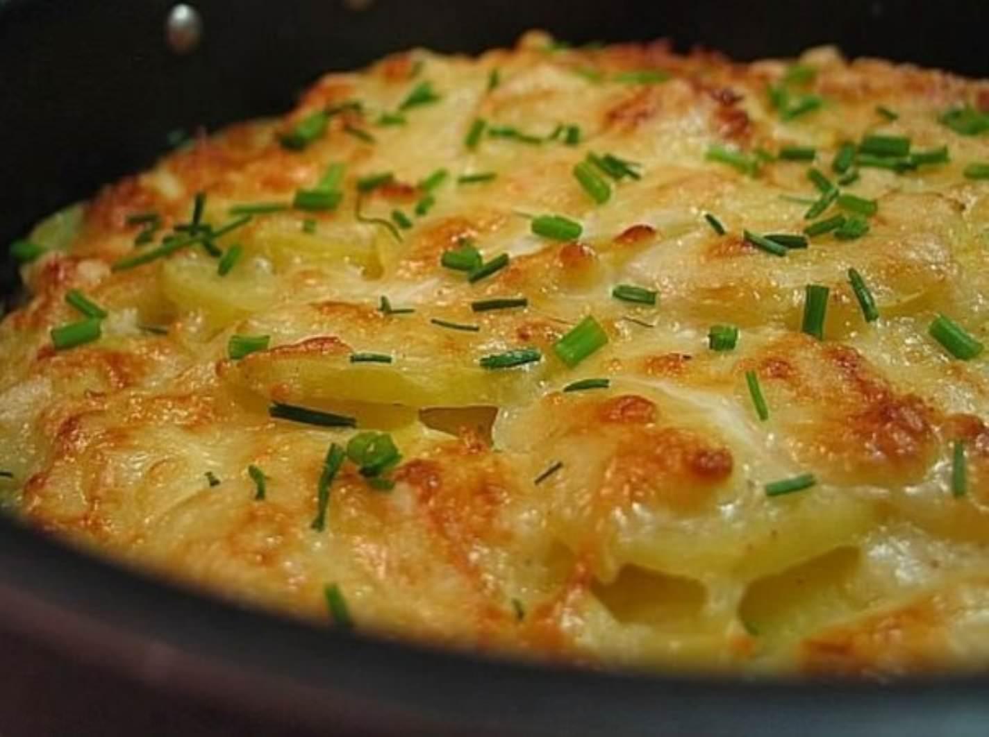 Картошка с мясом и сливками в духовке рецепт с пошагово